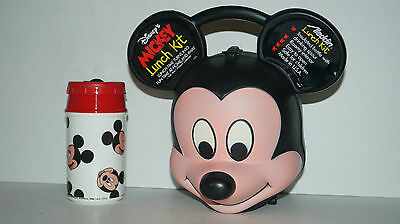 Aladdin Disney Mickey Mouse Lunchbox Lunch Kit With Thermos - Mint Unused