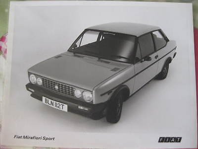 original FIAT 131 Sport / Racing press photo