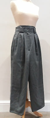 Vintage 1980s DOROTHY PERKINS Super High Waisted Wide Leg Cropped Trousers, UK 8