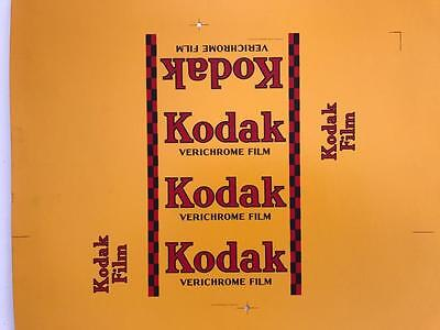 Rare 1940s Proof Card Packet Kodak Verichrome Film