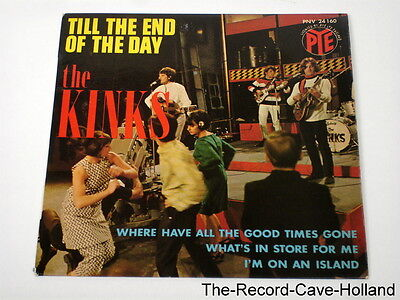 """7"""" KINKS EP Till The End Of The Day / I'm On A Island + 2 FRENCH 1966 PS"""