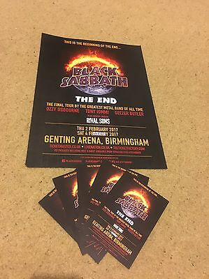 Black Sabbath The End 2017 Official Tour Poster And Flyers Ozzy