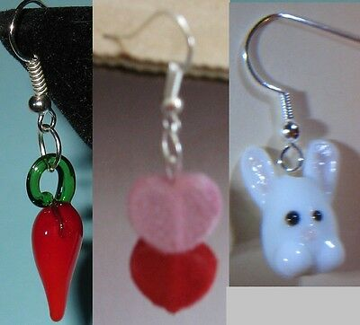 Craft kits to make Earrings  Easter Bunny, Valentine Hearts, Chili Peppers