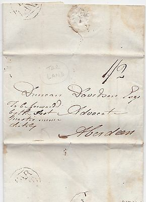 1818 Tarland Aberdeenshire Circ Pmk Letter George Forbes To Duncan Davidson