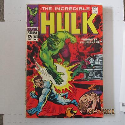 Incredible Hulk 108 VG SKU14222 25% Off!