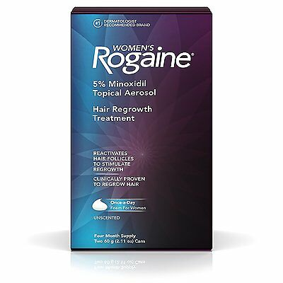 Women's Rogaine Once-A-Day Foam, Four Month Supply Hair Loss Treatment