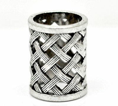 Lattice Design Round Silver Coloured Scarf Ring Woggle (Ideal Little Gift)