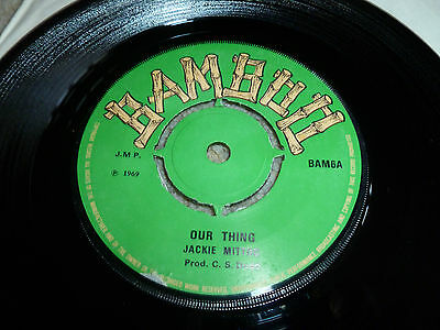 "JACKIE MITTOO-Our Thing VINYL 7""  REGGAE BAMBOO TOP COPY"