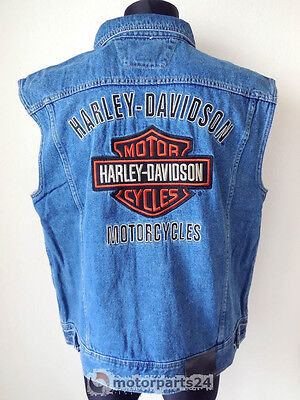 Harley Davidson Bar & Shield B&S Jeans Weste Denim Vest 99041-08VM   L