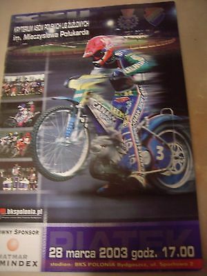 Criterium Of Aces - Polish Individual Speedway Programme 28 March 2003 - Gollob