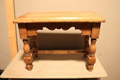 Antique Pine Stool or Side Table
