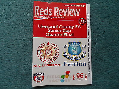 2013/14 - AFC LIVERPOOL v EVERTON - LIVERPOOL SENIOR CUP Q/F  Match Never Played
