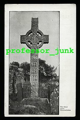 MONASTERBOICE The Great Cross COUNTY LOUTH Antique Postcard IRELAND Celtic EIRE