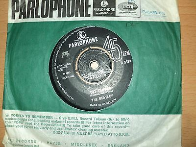 """The Beatles  """" Day Tripper"""" 7 inch single  Parlophone Label"""