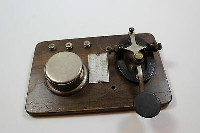Vintage Signal Electric Co? Telegraph Morse Code Key w International Code