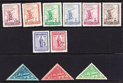 Bolivia 1952 - Mint hinged selection  - (902)