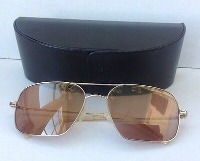 Oliver Peoples Sunglasses Victory (58) VFX Photochromic Gold w/ Case Brad Pitt
