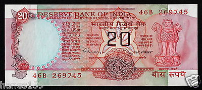 INDIA (P082j) 20 Rupees ND(1986) aXF