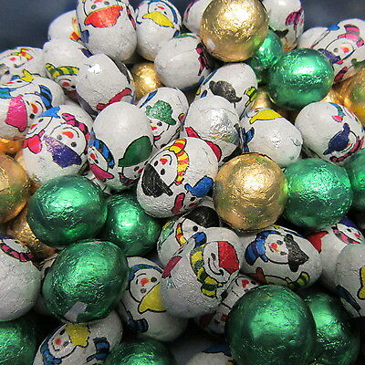 100 chocolate foiled christmas balls  chocolate party favours