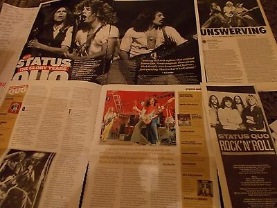Status Quo Celebrity  Clippings Pack  Good Condition