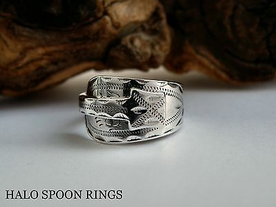 STUNNING LADIES GEORGIAN SOLID SILVER SPOON RING c1780*** THE PERFECT GIFT ***