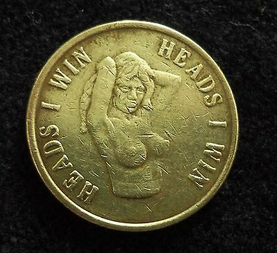 Heads or Tails Flip Coin Risque Vintage Flip Coins Tokens Bar