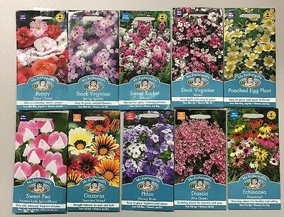 10 Packs Of Flower Seeds All In Date. Bargain