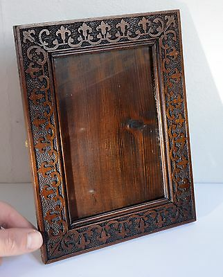 Gorgeous Original Vintage Carved Wooden Picture / Photo Frame + Original Glass