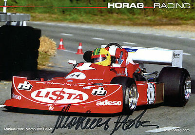 Markus Hotz Lista March 762 BMW  Horag Racing Top Karte 15x20
