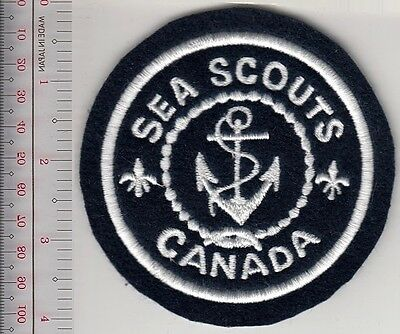 Boy Scouts of Canada BSC Sea Scouts National Crest Scouting Canada Black flt