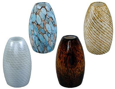 """1 Replacement DROP PENDANT LIGHT """"GLASS SHADE"""" Pick: BLUE BROWN PEBBLE HONEYCOMB"""