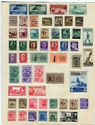 ITALY & AREA early 1900s - 1940s interesting Mint hinged Range on album page