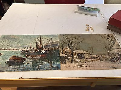 2 Vintage  wooden jigsaw puzzles  jk strauss Incomplete Old Friends Gloucester