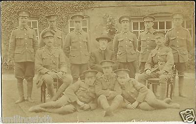 WW1 era postcard group  ARMY CYCLIST CORPS with Office & SNCO