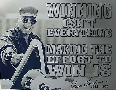 Tin Metal Sign Vince Lombardi winning nfl best football player coach poster 1961
