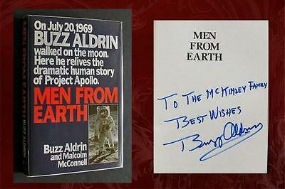 BUZZ ALDRIN SIGNED - MEN FROM EARTH - Gemini, Apollo - 2nd Man on the Moon!