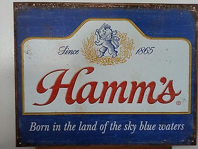 Hamm's Beer Sign Rustic Metal Vintage Advertising Bar Tin USA New