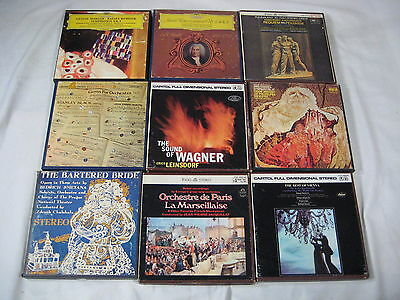 Lot 9 Classical music reel to reel tapes DG Capitol Mahler Handel Wagner Vienna