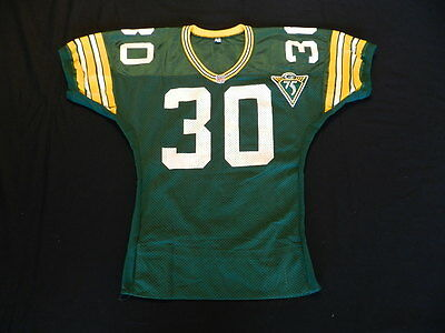 Corey Harris 1993 Green Bay Packers game used jersey with Packers 75 year patch