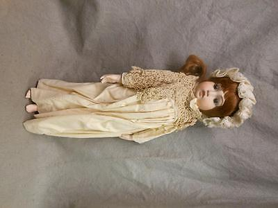 "Vintage Doll 23 Inch Marked "" 1982 L P""  Bisque With Cloth Body"