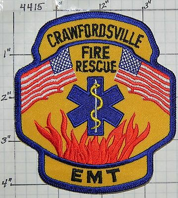 Indiana, Crawfordsville Fire Rescue Emt Emergency Patch