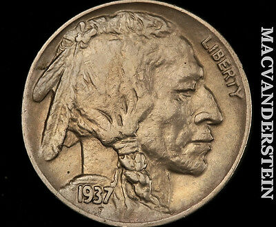 1937-D Buffalo Nickel- Almost Uncirculated+/ Uncirculated !! Luster !! #o8025