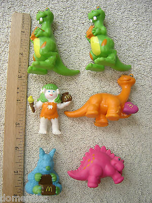 McDonalds 1985 Dinosaurs Tinosaurs Lot Figures Toy PVC 6 Happy Meal