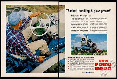 1964 Ford 6000 tractor farm farmer color photo vintage print ad