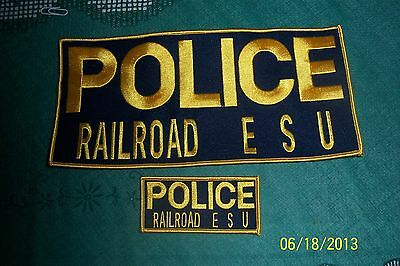 Railroad Police  Emergency  Service And Tab Patch Lot Sale