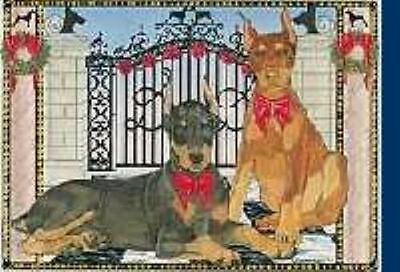 Ten Cards Pack DOBERMAN Dog Breed Christmas Cards USA made