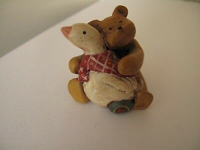 gnomys diaries bear with goose  by annekabouke
