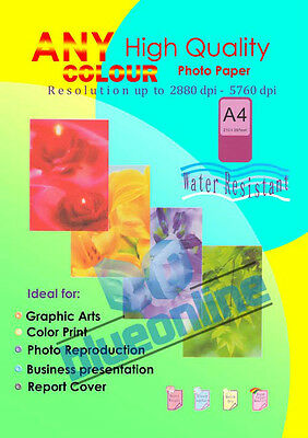 100 Sheets 110GSM High Gloss photo paper A4 for inkjet printer