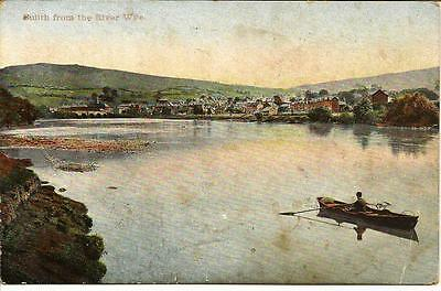 Builth from the River Wye - Used Postcard.
