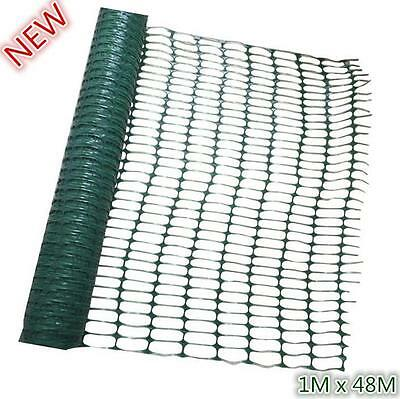 1M x 48M Green Plastic Mesh Barrier Safety Fence Netting Event Garden Project